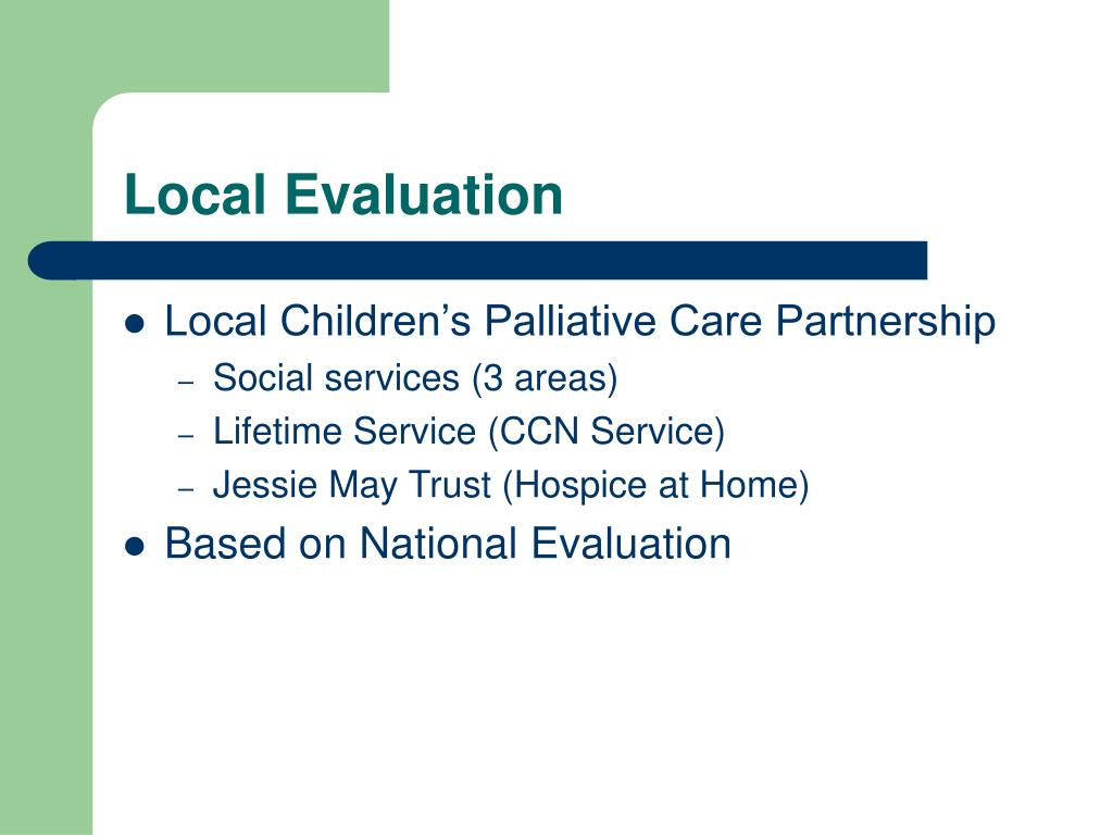 Local Evaluation