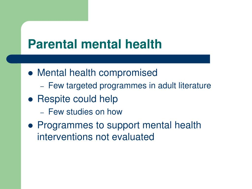 Parental mental health