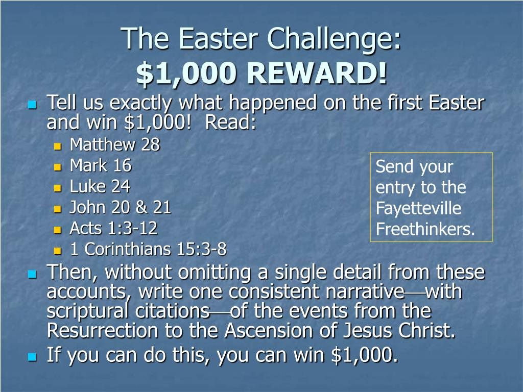 The Easter Challenge:
