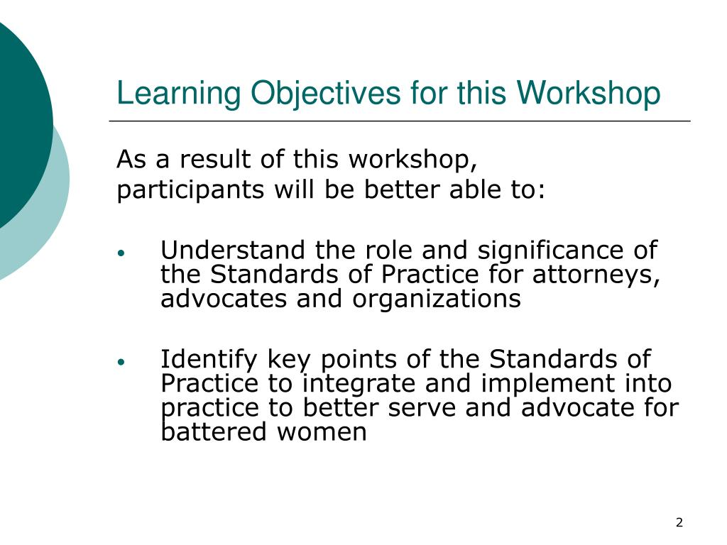 Learning Objectives for this Workshop