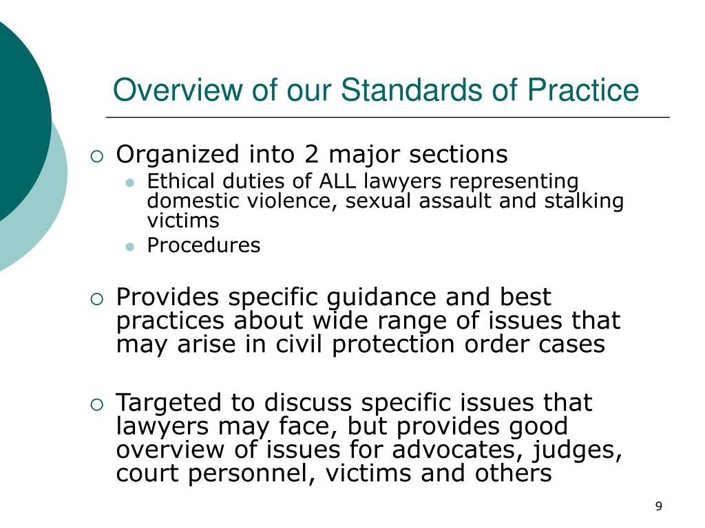 Overview of our Standards of Practice