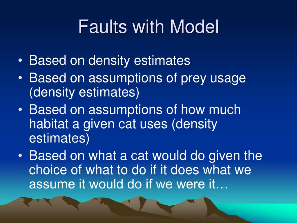 Faults with Model