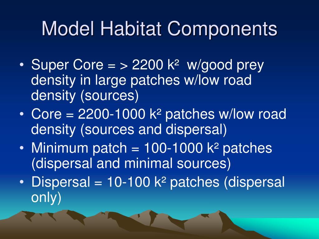 Model Habitat Components