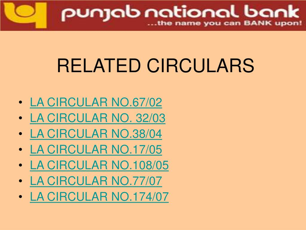 RELATED CIRCULARS