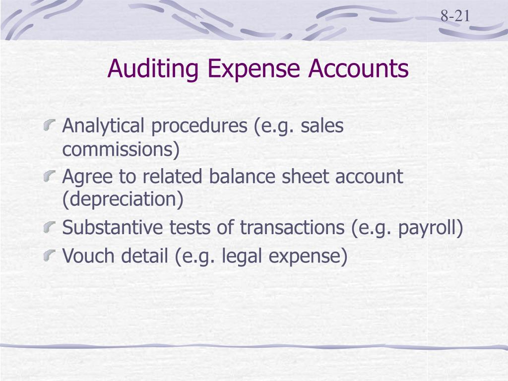 Auditing Expense Accounts