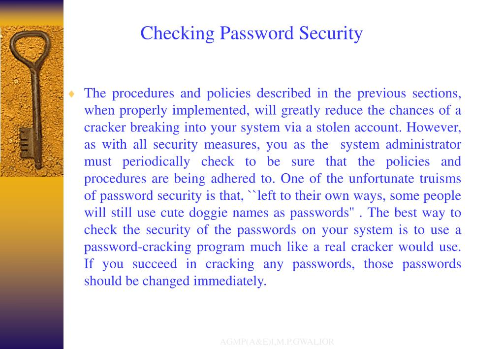 Checking Password Security