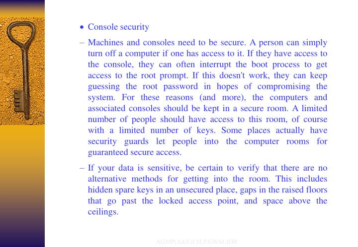 Console security