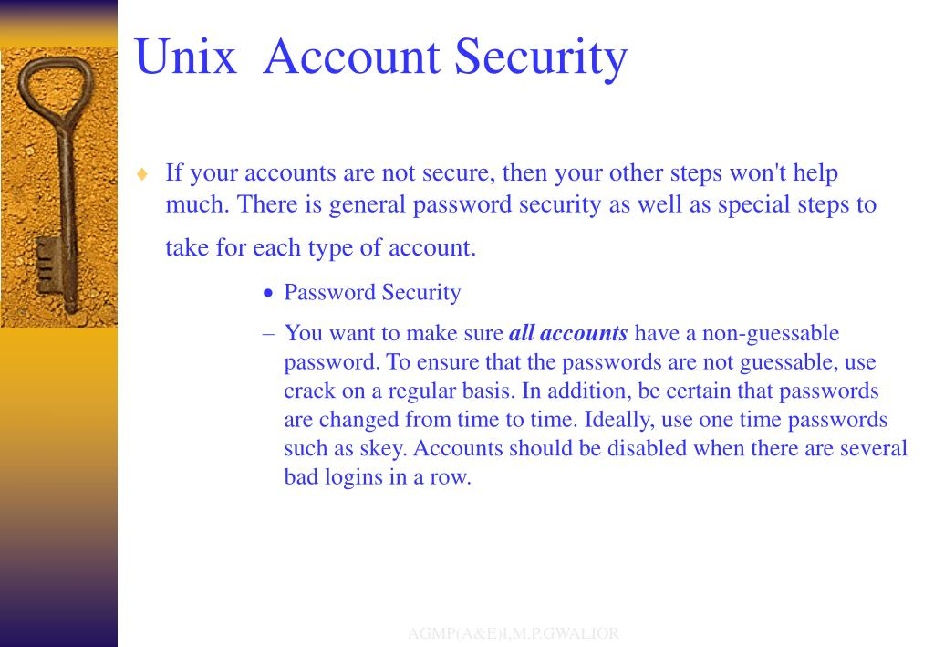 Unix  Account Security