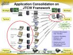 application consolidation on jtcw framework
