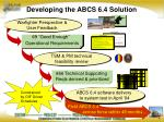 developing the abcs 6 4 solution