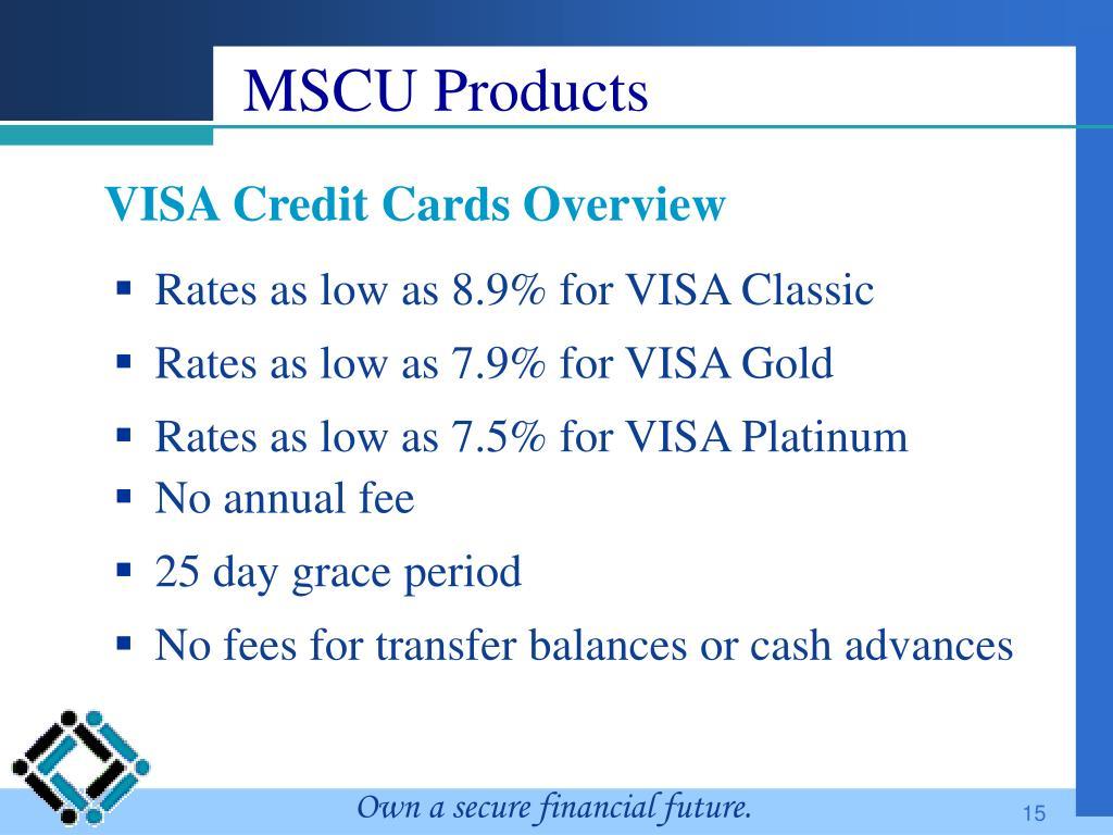 MSCU Products