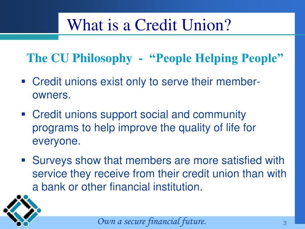 "The CU Philosophy  -  ""People Helping People"""