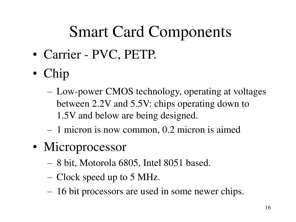 Smart Card Components