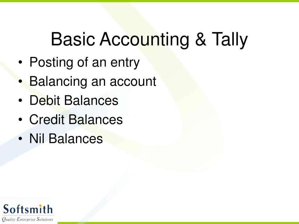 Basic Accounting & Tally