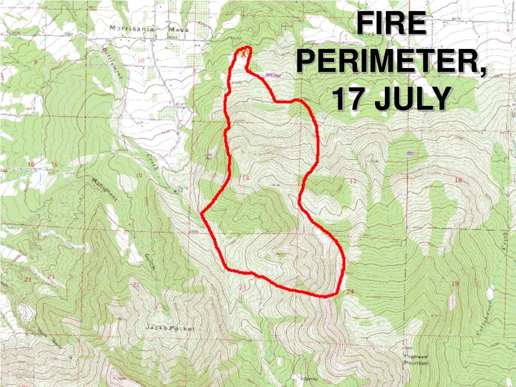 FIRE PERIMETER, 17 JULY