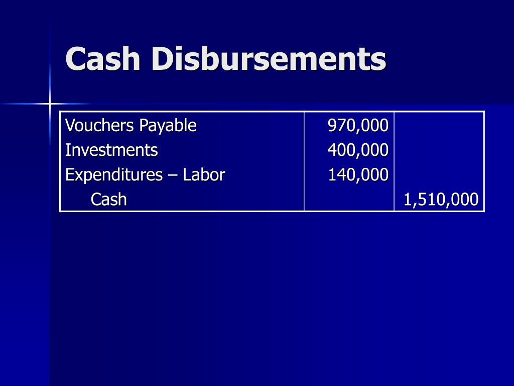Cash Disbursements