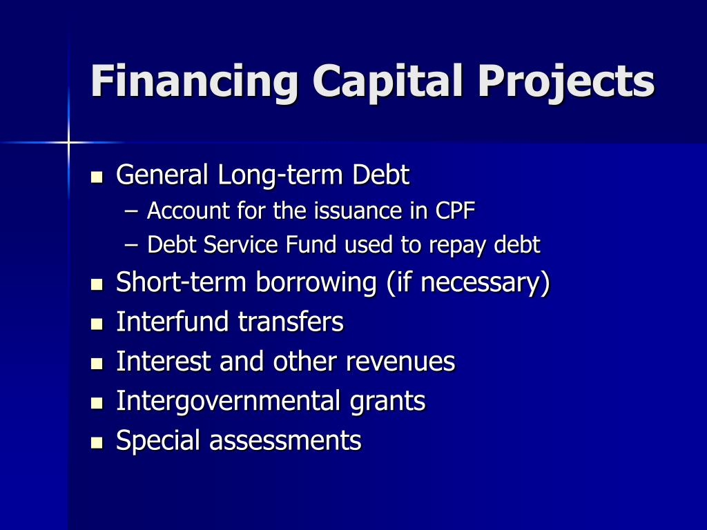 Financing Capital Projects