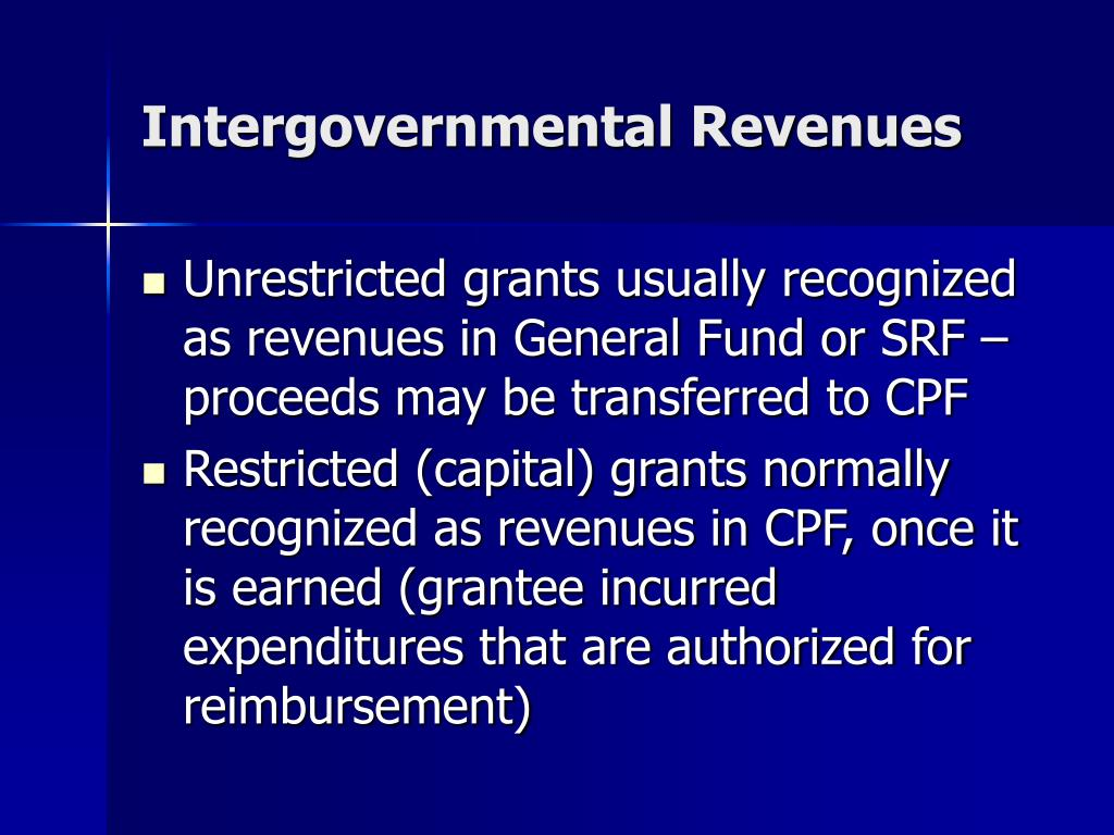 Intergovernmental Revenues