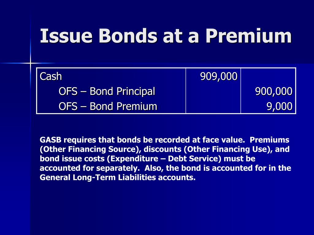Issue Bonds at a Premium
