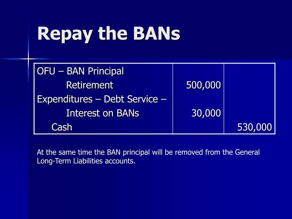 Repay the BANs
