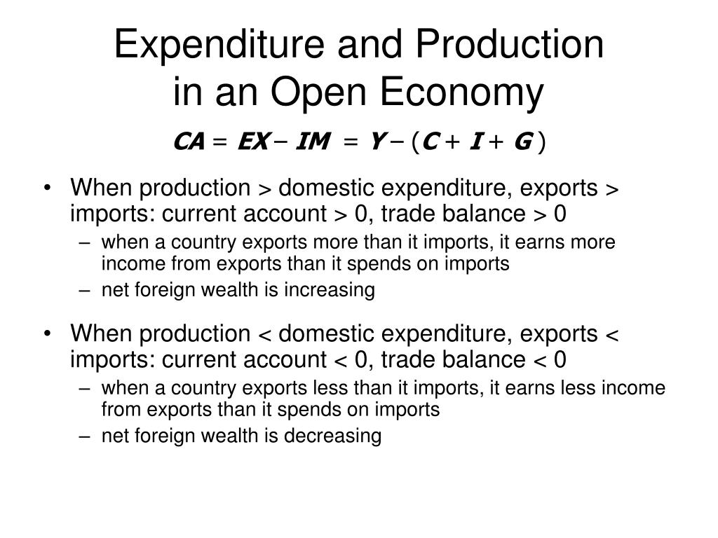 Expenditure and Production