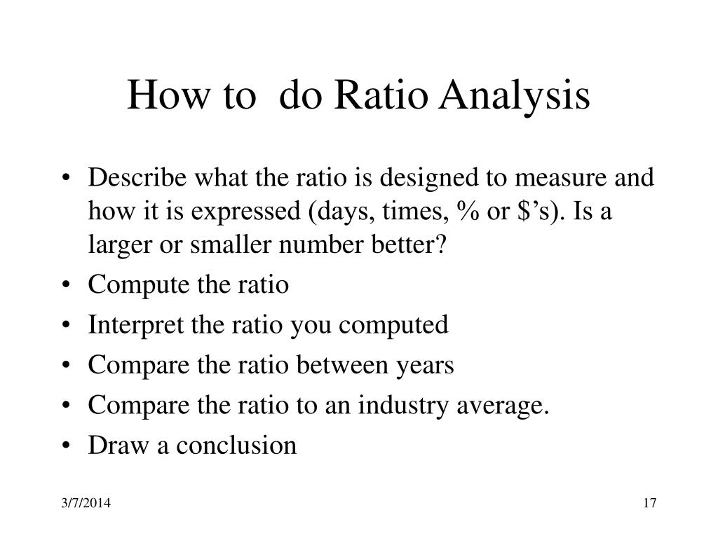 How to  do Ratio Analysis
