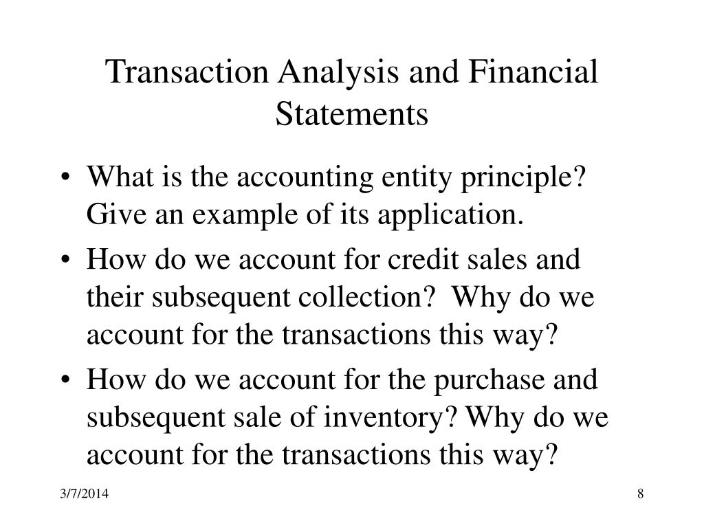 Transaction Analysis and Financial Statements