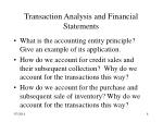 transaction analysis and financial statements8
