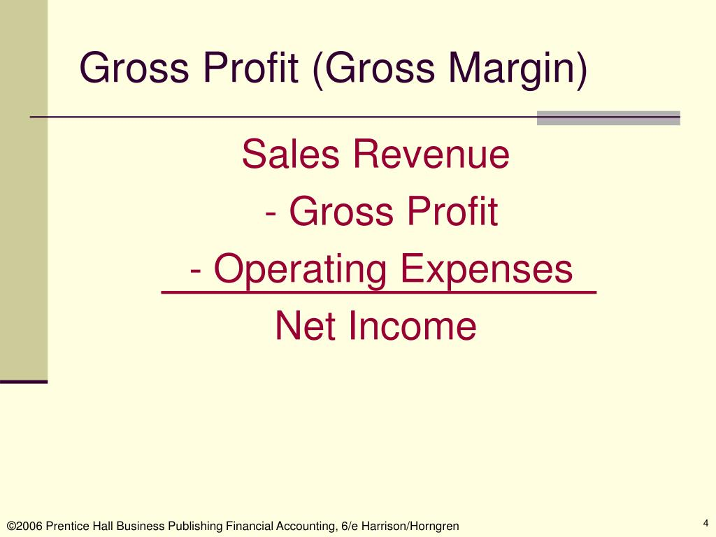 Gross Profit (Gross Margin)