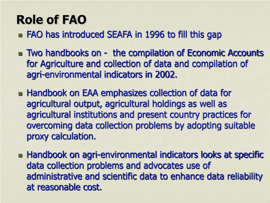 Role of FAO