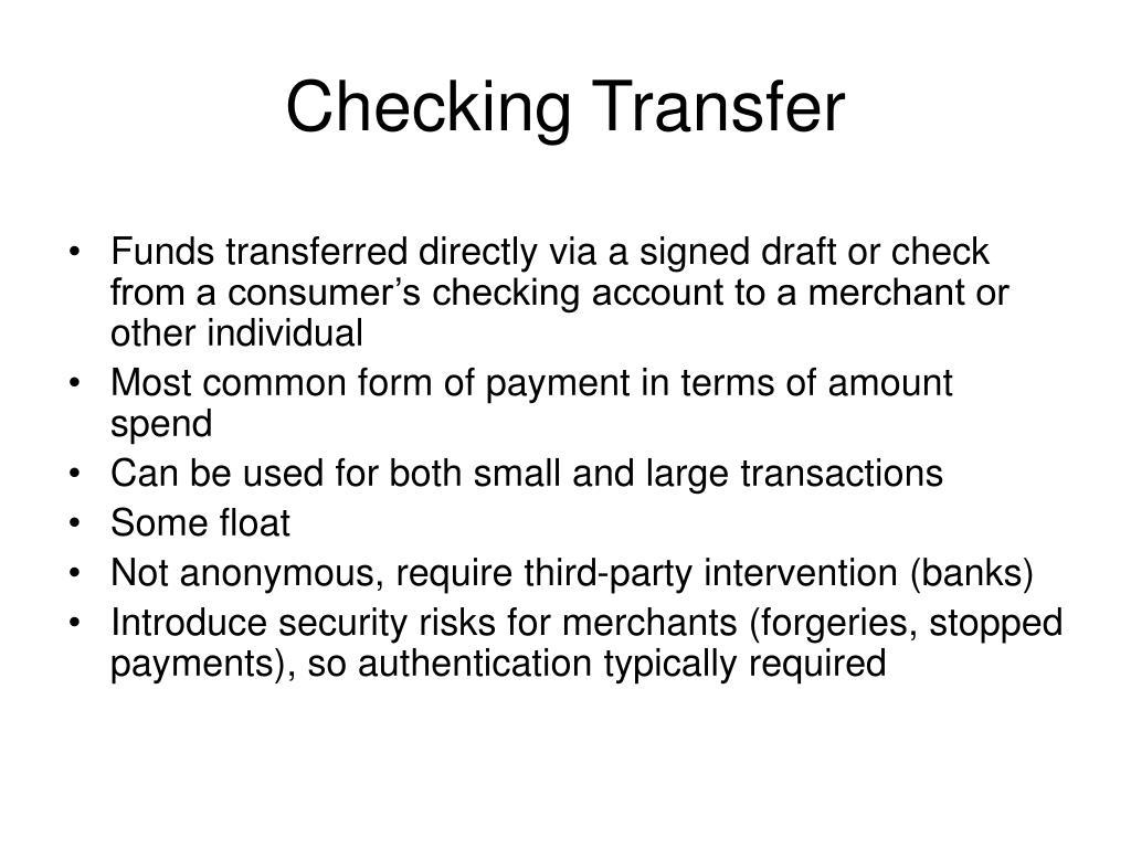 Checking Transfer