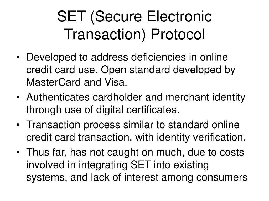 SET (Secure Electronic Transaction) Protocol