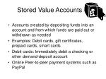 stored value accounts