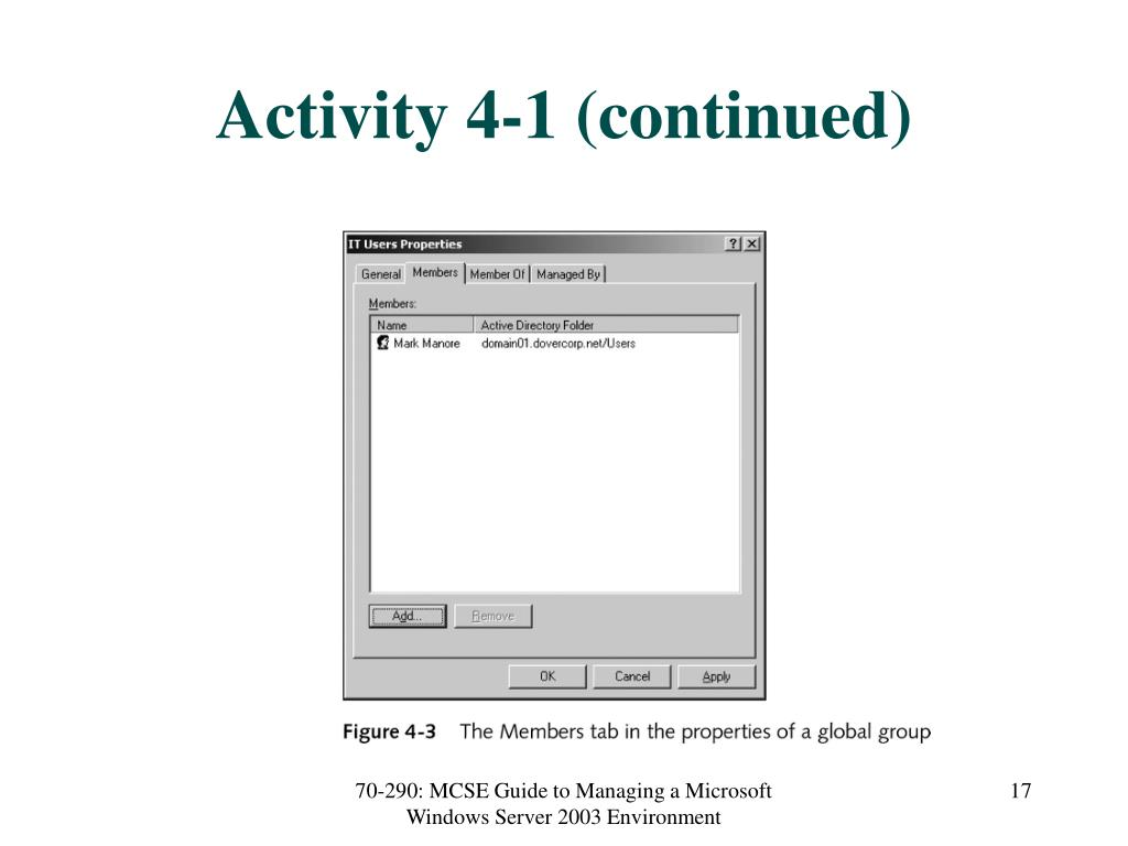 Activity 4-1 (continued)