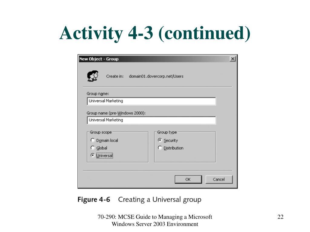 Activity 4-3 (continued)