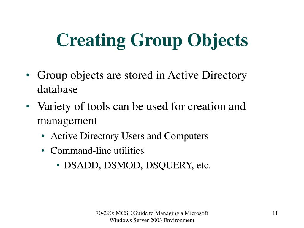 Creating Group Objects