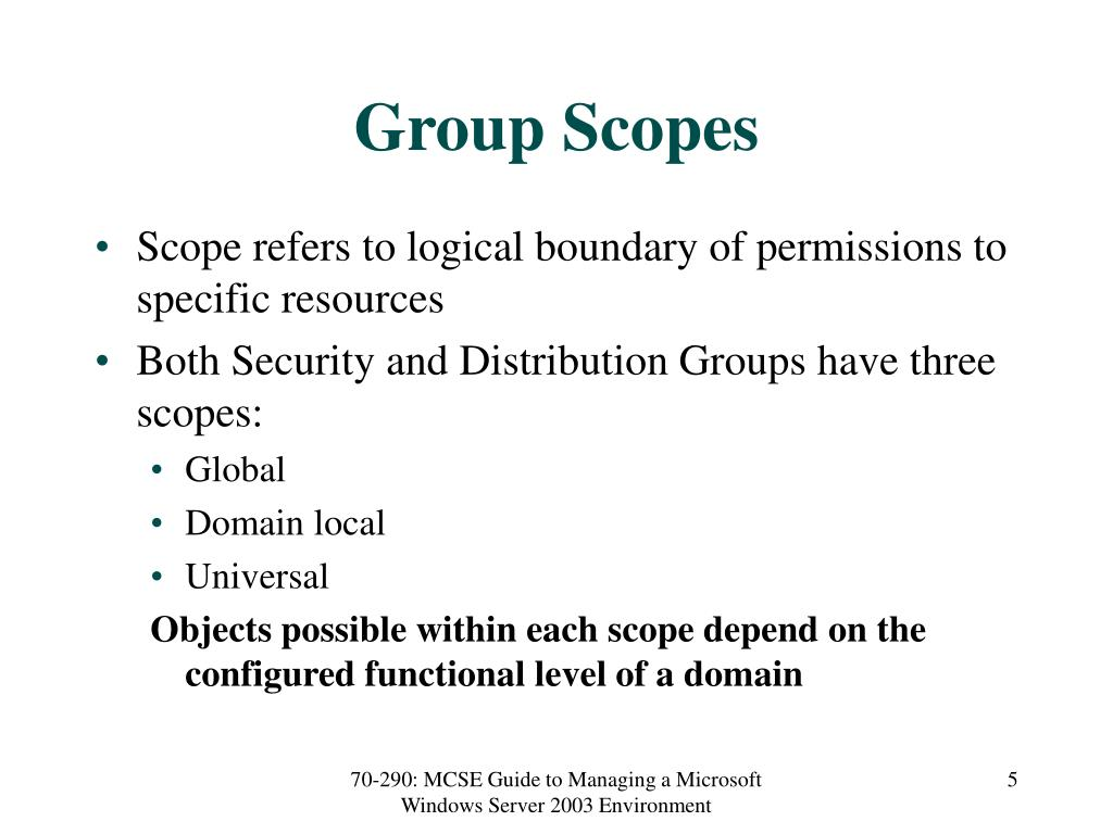 Group Scopes