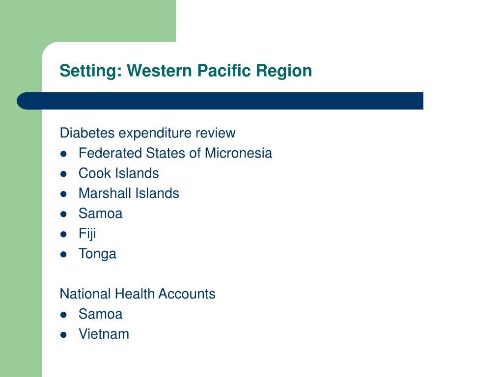 Setting: Western Pacific Region