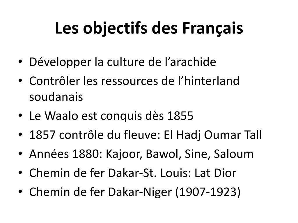 Les objectifs des Français
