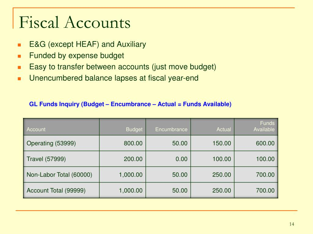 Fiscal Accounts