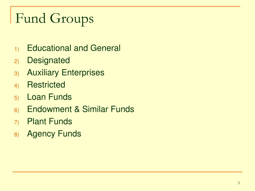 Fund Groups