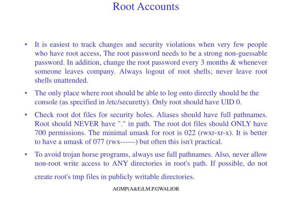 Root Accounts