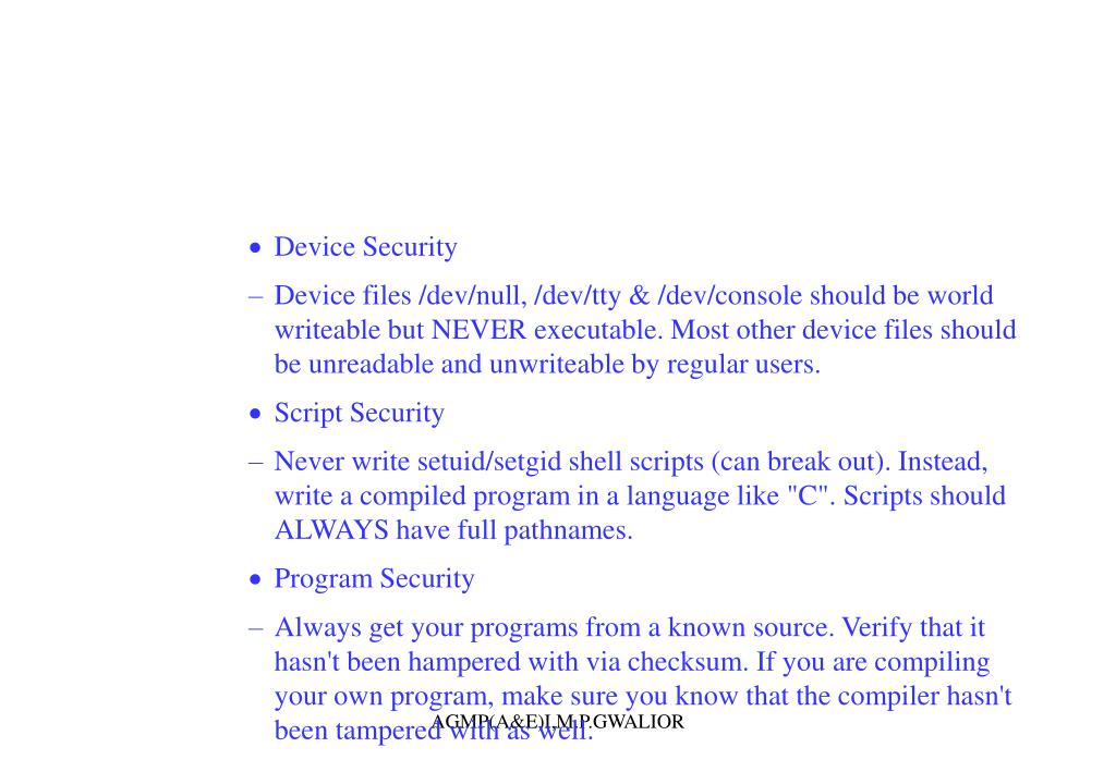 Device Security