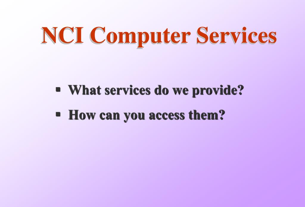 NCI Computer Services