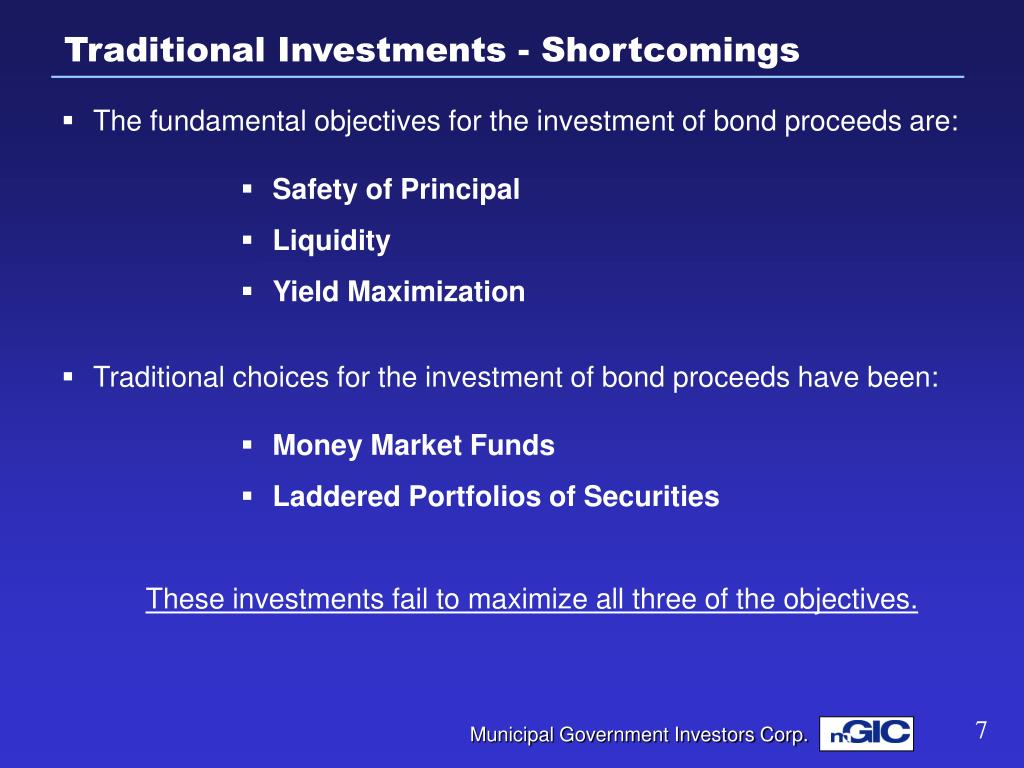 Traditional Investments - Shortcomings