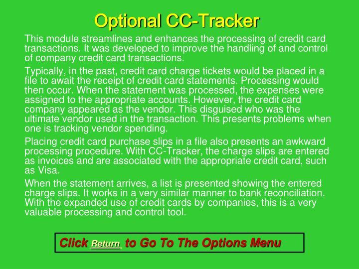 Optional CC-Tracker