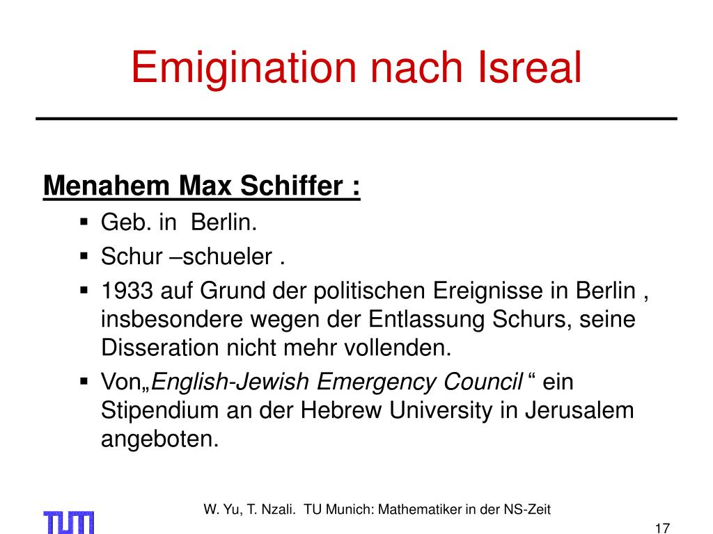 Emigination nach Isreal