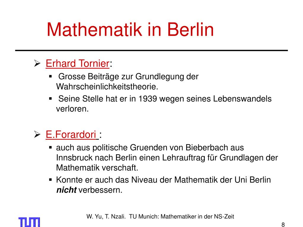 Mathematik in Berlin