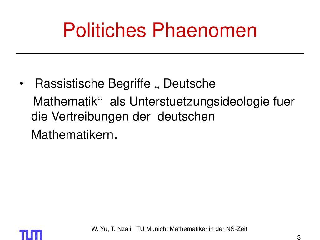 Politiches Phaenomen
