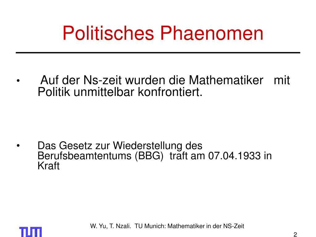 Politisches Phaenomen